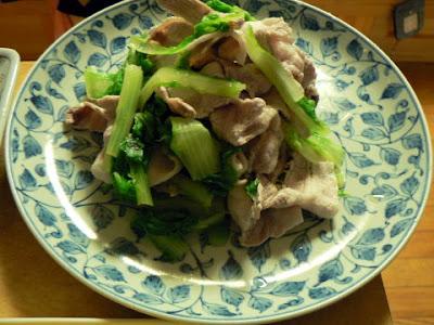 青菜と豚バラ和え完成