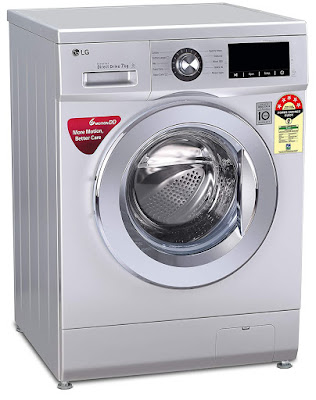 LG 7.0 Kg 5 Star Inverter Fully-Automatic Front Loading Washing Machine (FHM1207ZDL, Luxury Silver, 6 Motion Technology)