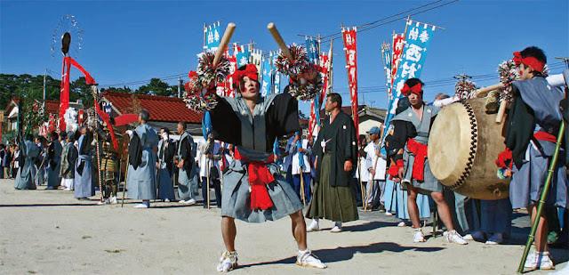 Oki Muramatsuri Furyu (autumn festival), Oki Island, Shimane Pref.