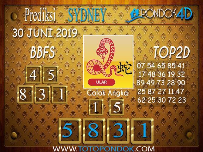 Prediksi Togel SYDNEY PONDOK4D 30 JUNI 2019