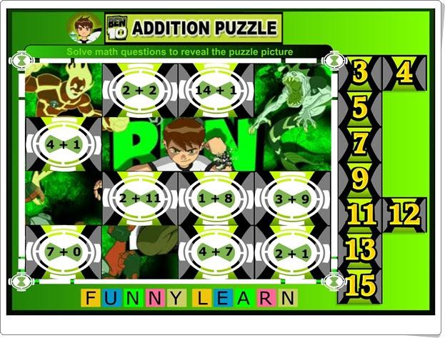 """""""Addition puzzle con Ben"""" (Juego de Suma)"""