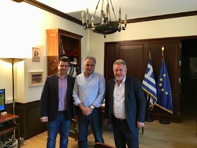 Συνάντηση Μάριου Κάτση και Δημάρχου Ηγουμενίτσας με τον Υπουργό Εσωτερικών