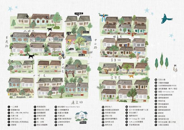 【大叔生活】2021 又是六天五夜的環島小筆記 (下卷) - 勝利星村園區平面導覽圖 (點擊放大觀看)