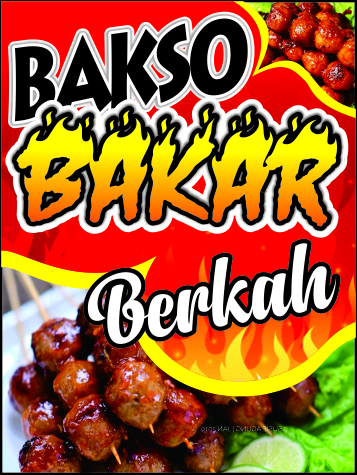 download design spanduk bakso bakar cdr - Design_Spanduk