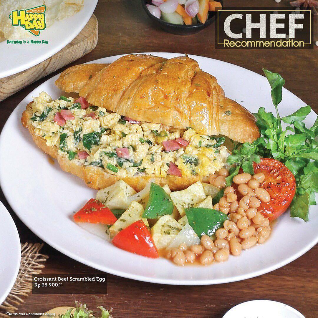 Promo HAPPY DAY RESTO Menu Chef Recommendations Harga mulai Rp. 29.900,-