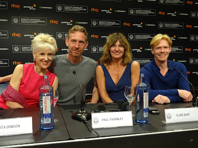 Anita Dobson, Paul Thornley, Clare Burt y Michael Shaeffer - Rueda de prensa de London Road