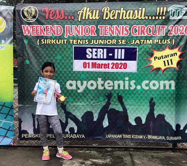 Atlet President's Tennis Club Kediri Berjaya di Weekend Junior Tennis Circuit 2020