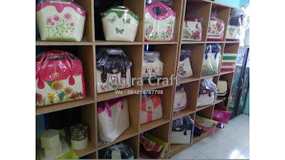Tas Dompet Anyaman Pandan murah Decoupage Albira Craft