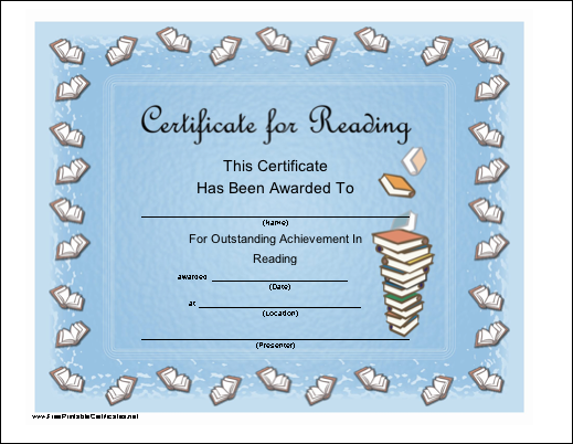 Reading Certificate Template. Demco Com Excellence In. Outstanding