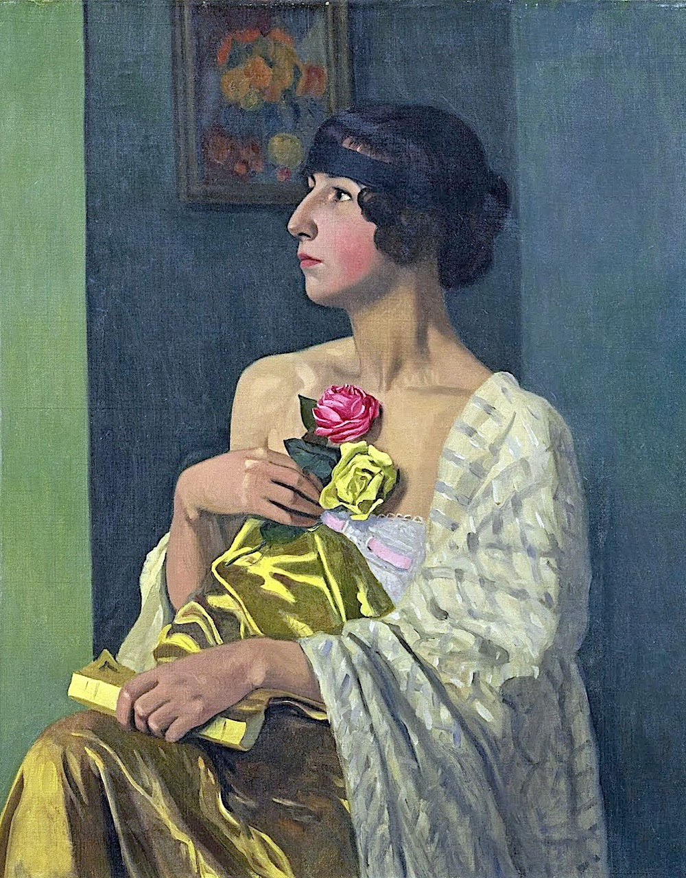 Félix Vallotton 1919, portrait of a woman