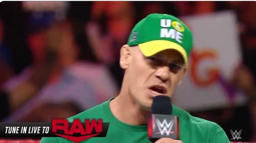 """John Cena fa un annuncio importante nel suo attesissimo ritorno in """"Raw"""""""