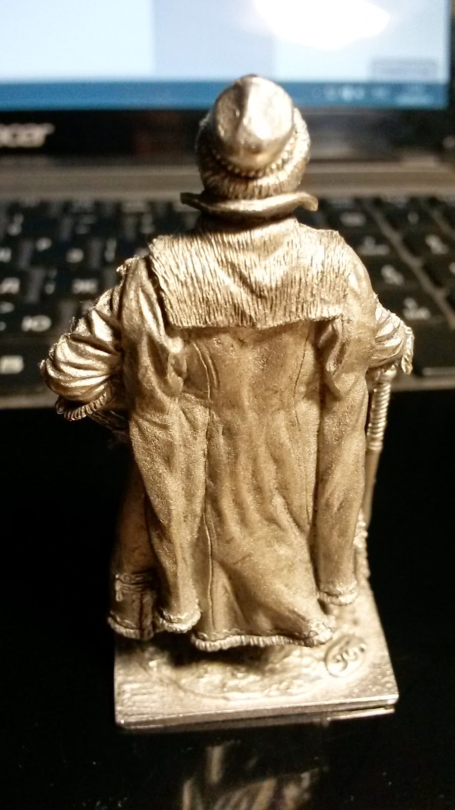 Оловянный солдатик Стрелецкий голова вид сзади