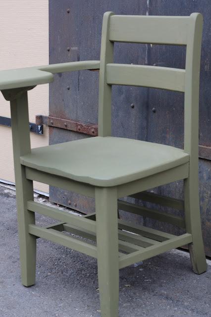 Walrus: Painted Old School Desk