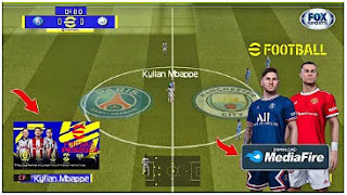Download eFootball PES 2022 PPSSPP Commentary Peter Drury Camera PS5 & Best Graphics Real Faces