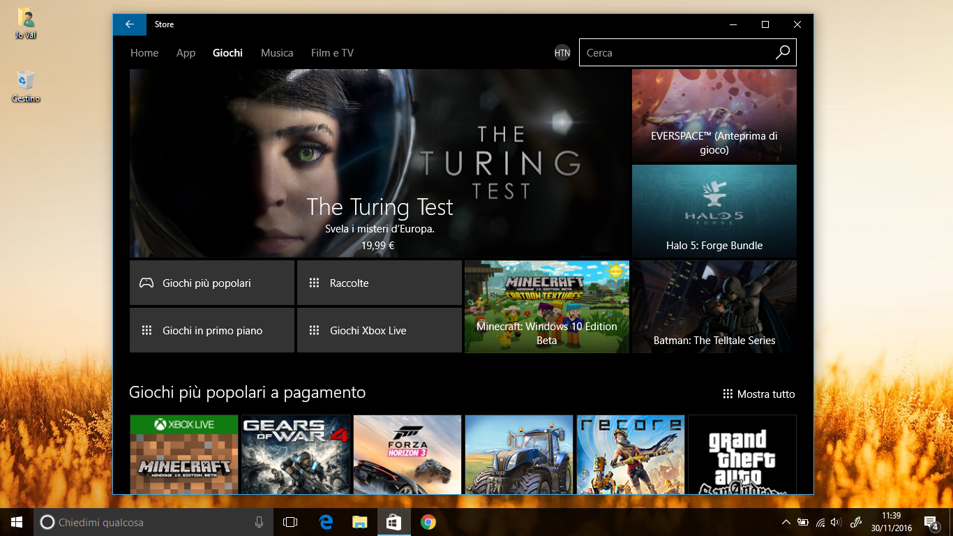 Come utilizzare offline i giochi del Windows Store HTNovo