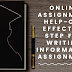 Online Assignment Help - One Effective Step For Writing Informative Assignment