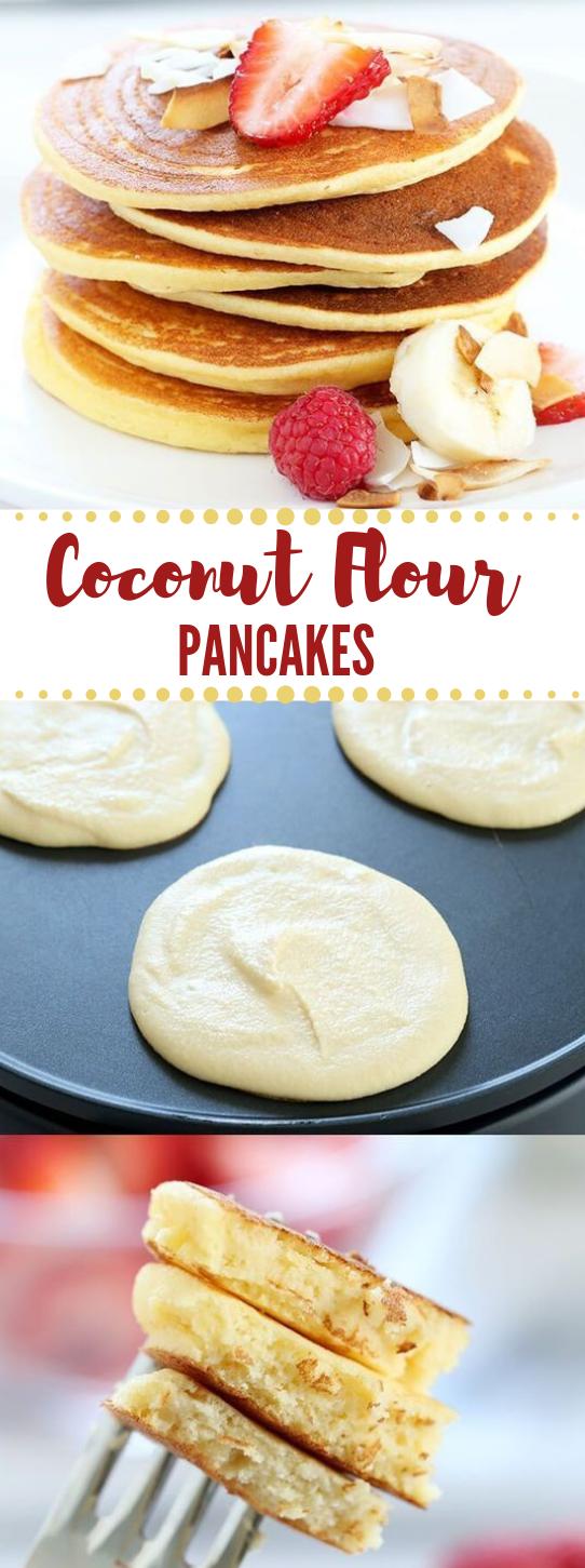 Fluffy Coconut Flour Pancakes #pancakes #coconut #cake #dessert #recipes
