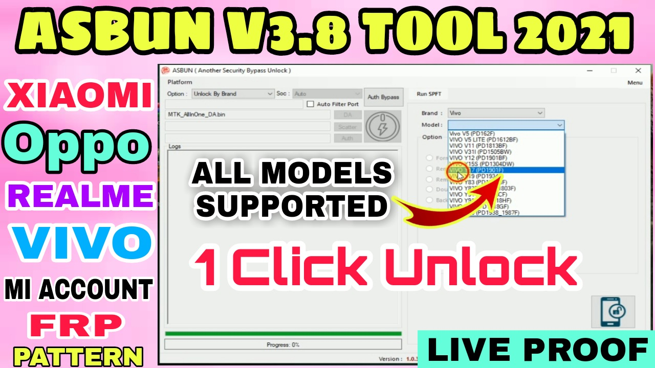 ASBUN Tool 3.8 | New Auth Bypass Tool (No Need SP Flash Tool  And Address Find Tool)
