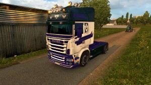 V8 5-Series skin for Scania RJL (EviL)