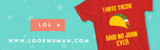 Shop for funny shirts from lookhuman.com