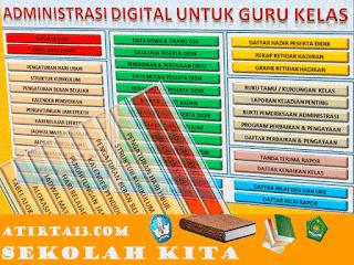 Download Administrasi Guru Kelas Format  Excel Versi Digital Tahun 2016