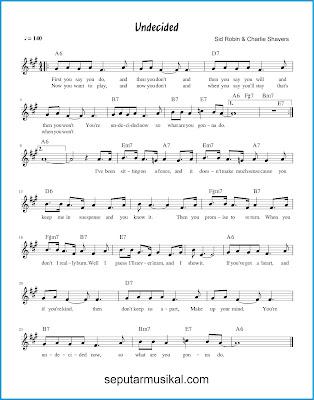 Undecided chords jazz standar