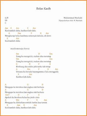 chord belas kasih dangdut m. mashabi