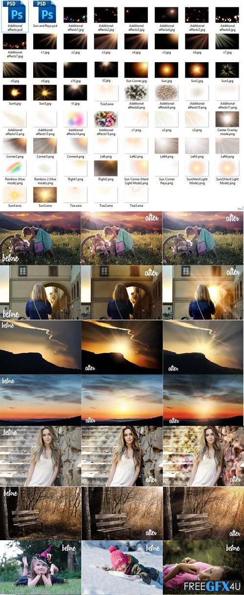 Sunlight Photoshop Overlay Sunset