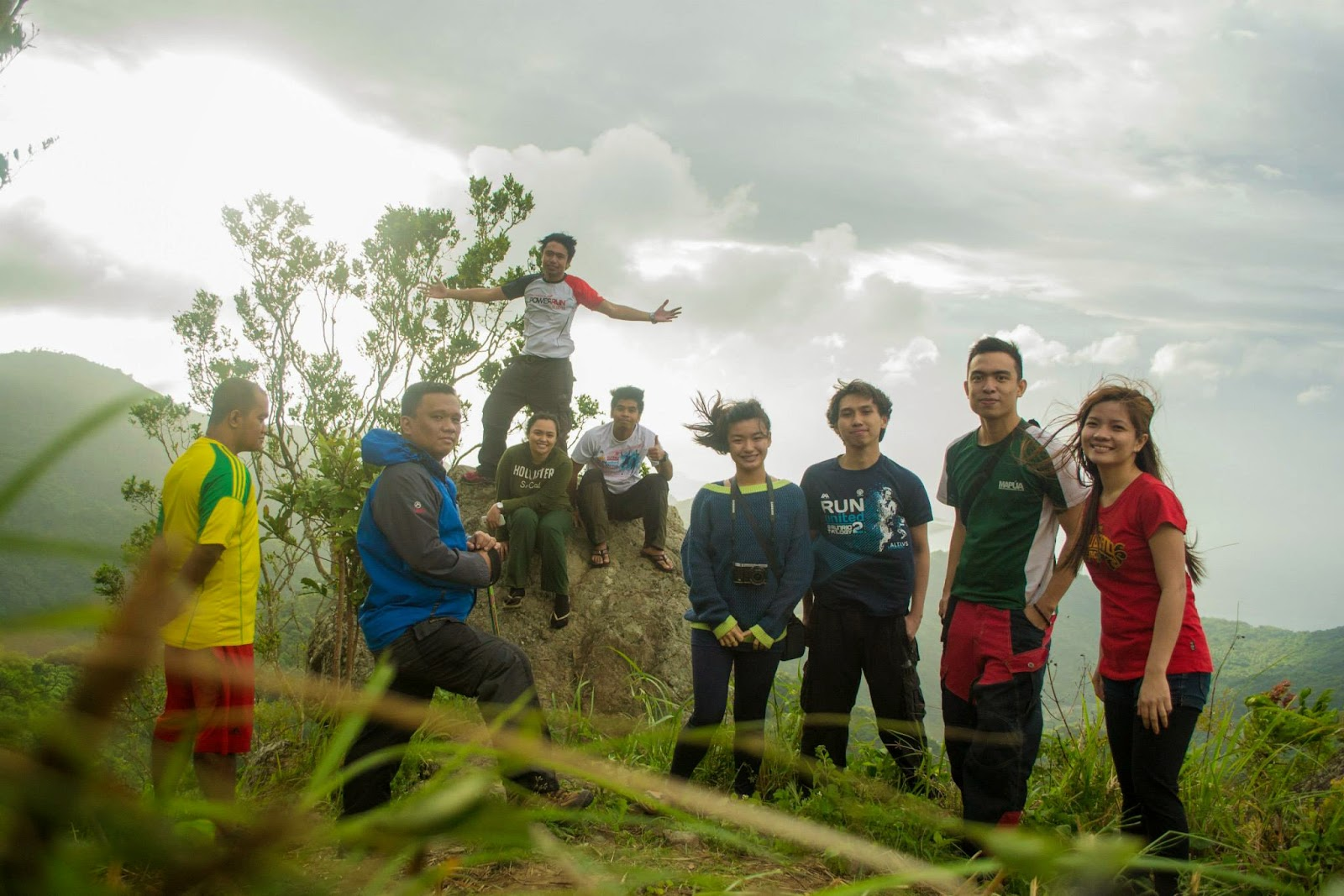 The Group at the Cliff - Mt. Tibig