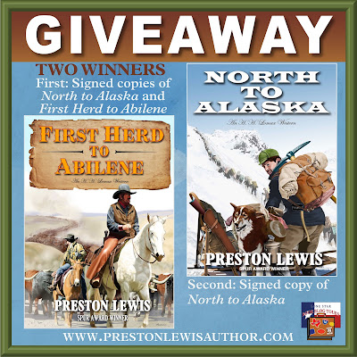 North to Alaska tour giveaway graphic. Prizes to be awarded precede this image in the post text.