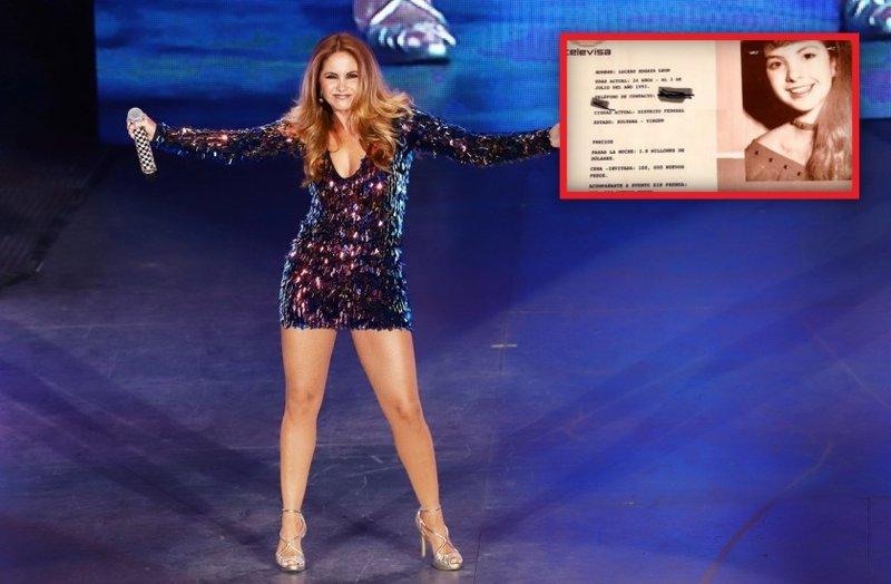 """Sale a la luz parte del """"Catálogo"""" de Televisa; 1.8 mdp costaba pasar una noche con Lucero"""