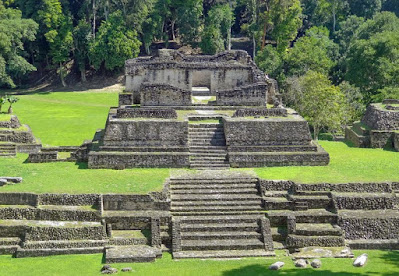 maya ruins at caracol