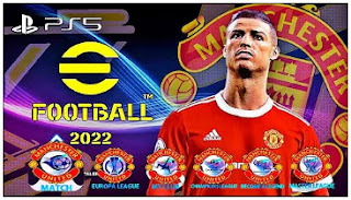 Download PES 2022 MOD eFootball PPSSPP Manchester United Best Graphics PS5 Fix Latest Transfer & English Commentary