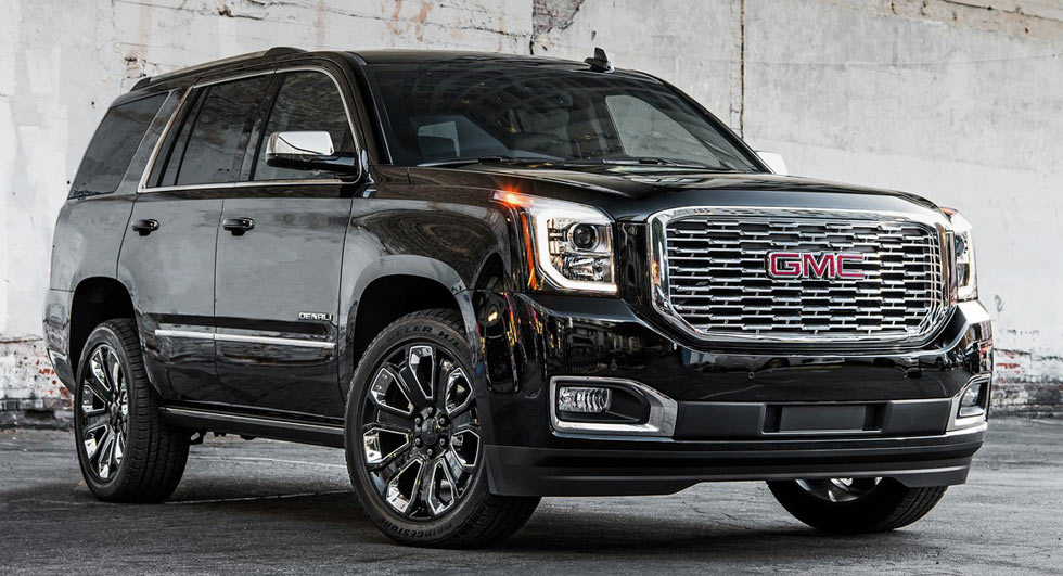 2018 gmc yukon denali ultimate black edition brings the bling to la. Black Bedroom Furniture Sets. Home Design Ideas