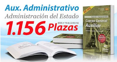 Temarios Auxiliar Administrativo. Administración del Estado. Disponibles en Cilsa.