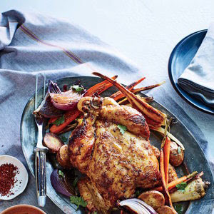 Lemony Chicken with Root Vegetables