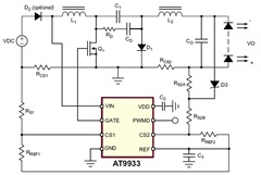 AT9933 Datasheet and Design for a Boost-Buck Converter Circuit