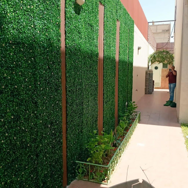 تنسيق حدائق بالكويت  تنسيق حدائق منزلية بالكويت  تركيب عشب صناعي الكويت