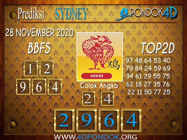 Prediksi Togel SYDNEY PONDOK4D 28 NOVEMBER 2020