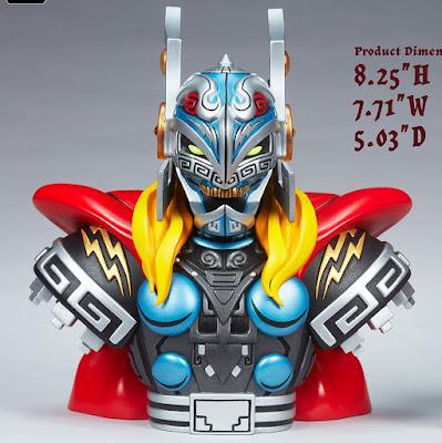 Thor Urban Aztec Vinyl Bust by Jesse Hernandez x Unruly Industries x Marvel Comics