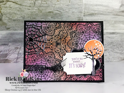 You're So Sweet It's scary when you use the Frightfully Cute Bundle from Stampin' Up! to make this card.  Click to learn more