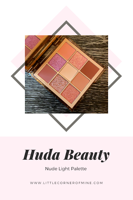 Huda Beauty Nude Light Palette and Swatch