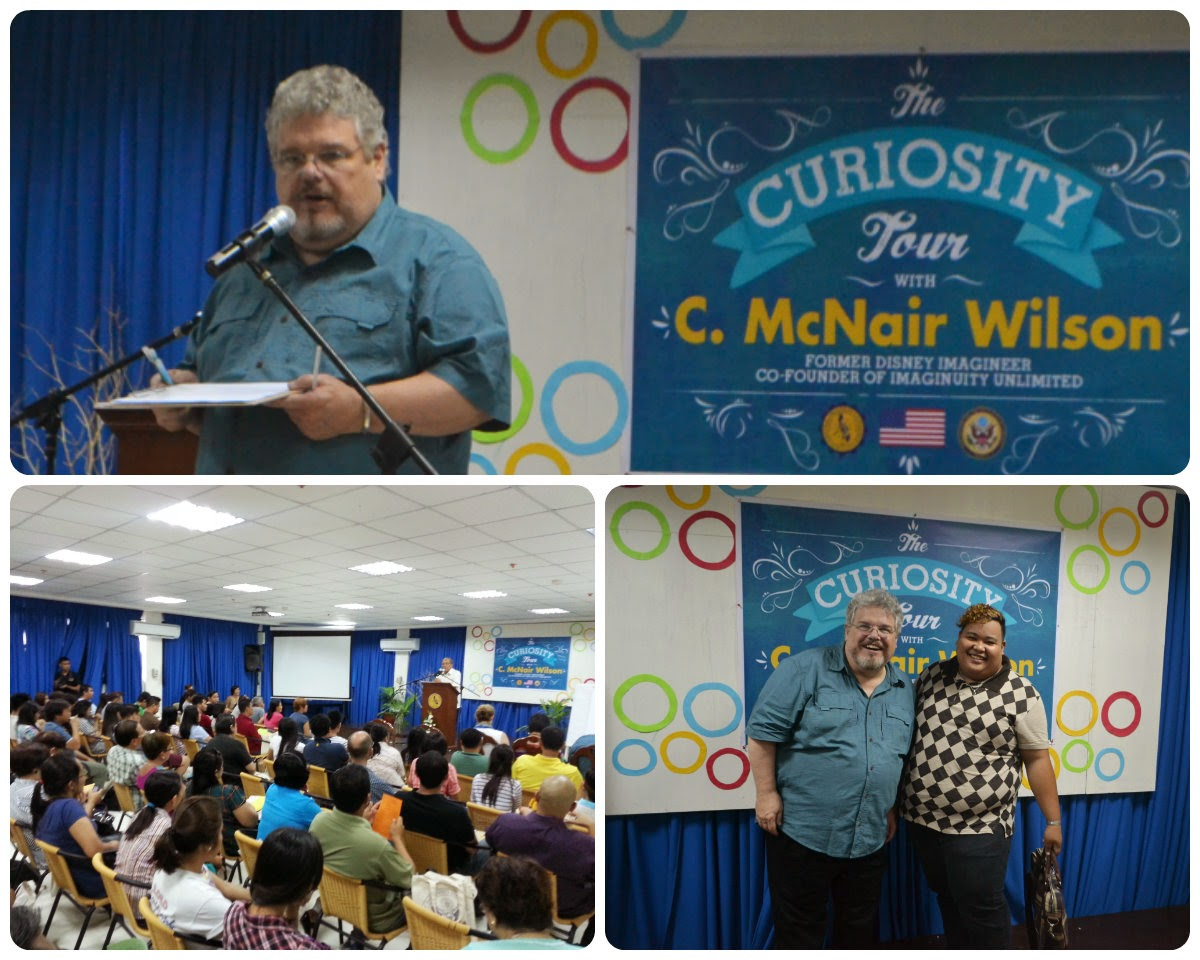 mc nair wilson curiosity tour central philippine university iloilo city philippines disney US embassy