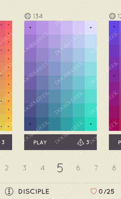 I Love Hue Disciple Level 5 Solution, Cheats, Walkthrough