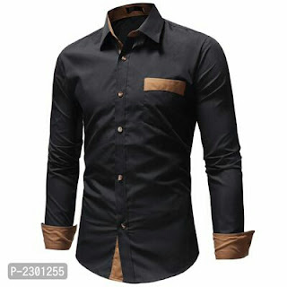 Men's Cotton Solid Slim Fit Casual Shirts
