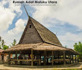 Desain Bentuk Rumah Adat Maluku Utara dan Penjelasannya, Rumah Adat  Sasadu