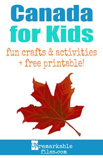 Learning about Canada  is fun and hands-on with these free crafts, ideas, and activities for kids! #canada #educational #aroundtheworld #kids