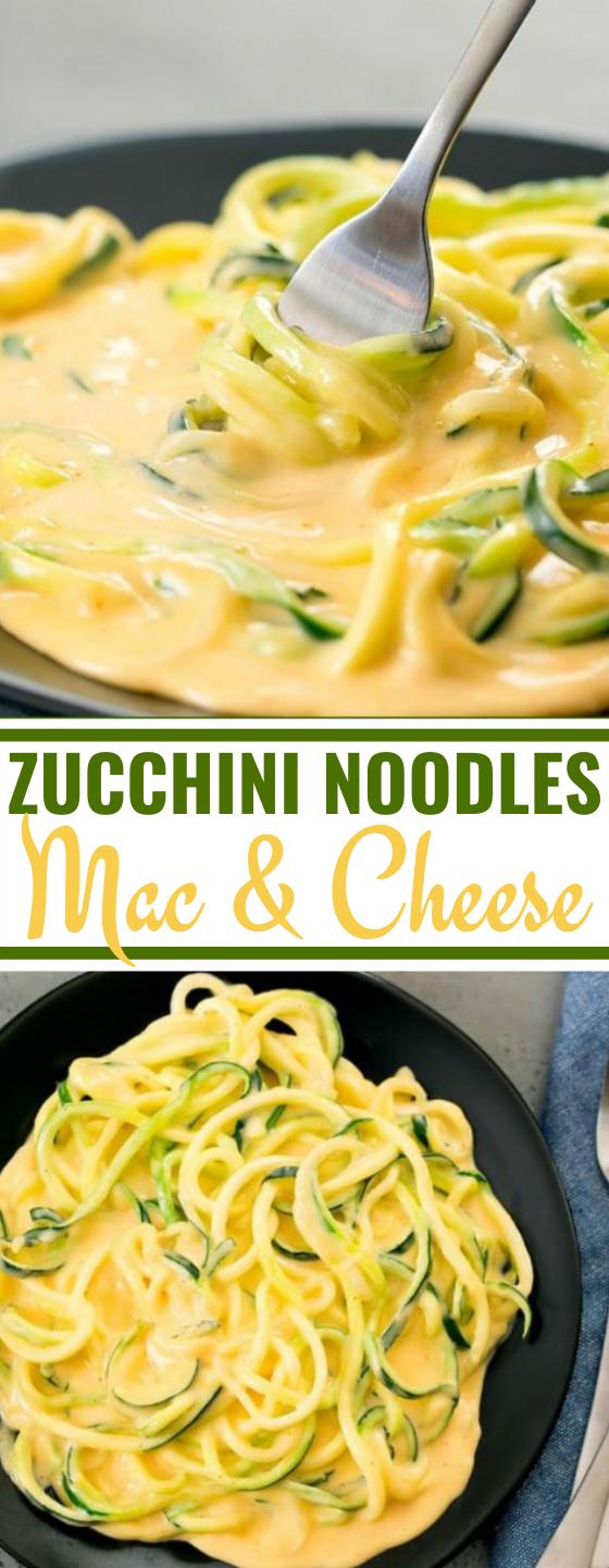 "Zucchini Noodles ""Mac & Cheese"" #healthy #keto #lowcarb #dinner #vegetarian"