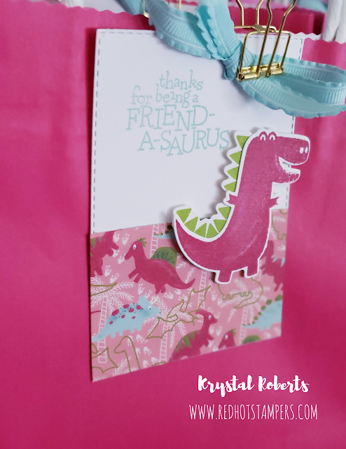 Stampin' Up! Dinoroar T-Rex Tag