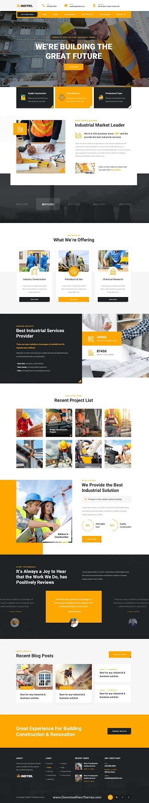 Construction & Renovation PSD Template
